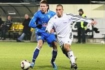 Fotbalové utkání Blšan (v bílém) proti Vyšehradu