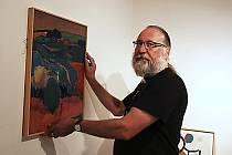 Příprava výstavy k výročí 100 let od narození významného lounského výtvarníka Vladislava Mirvalda.