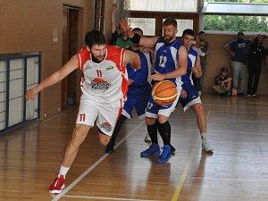 Utkání basketbalistů Loun proti Mariánským lázním