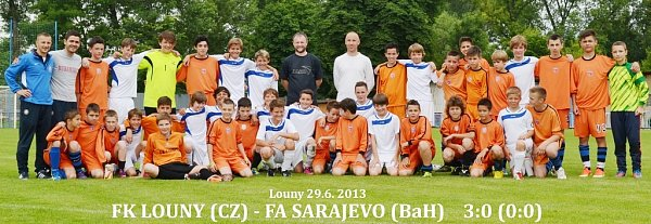 Týmy fotbalistů Loun a Sarajeva