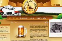 Web pivovaru Pivo ZLoun