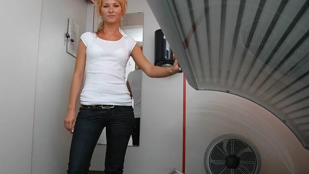 Andrea Zimmermannová, majitelka lounského solária.