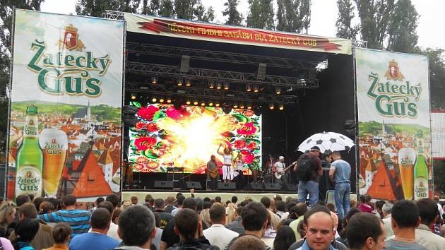 Festival Žatecký Gus ve městě Černivci na Ukrajině.