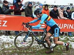 MS v cyklokrosu Tábor, závod mužů elite. Později stříbrný Wout Van Aert. Na trati mu spadl řetěz