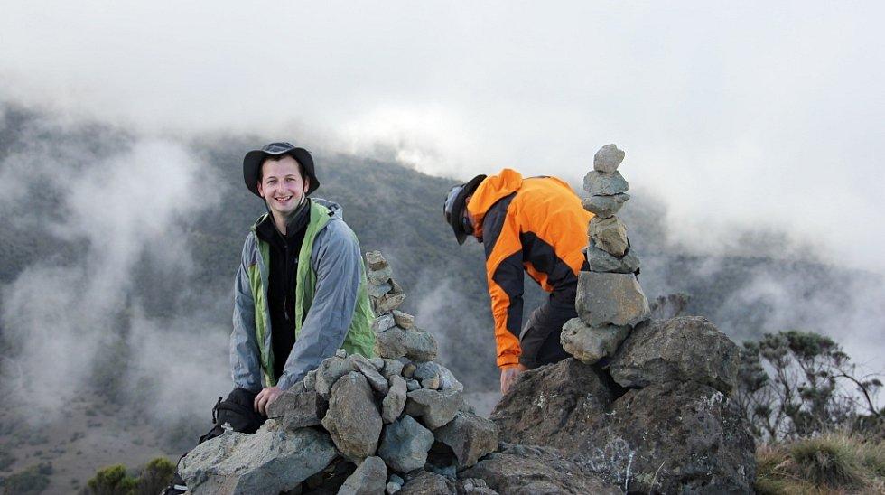 Luboš Peterka (vlevo) při výstupu na Mount Meru