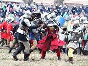 Zimní bitva v Podbořanech.