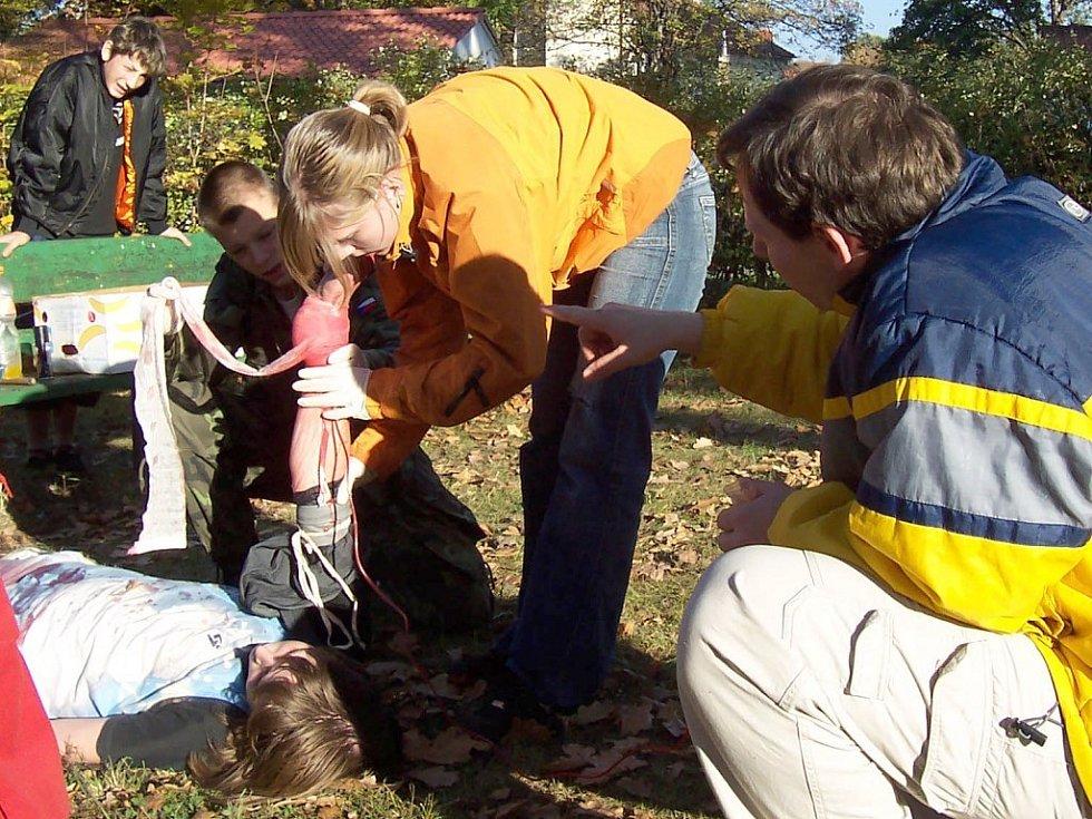 Záchranáři cvičili v parku