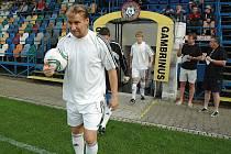 Fotbalové utkání Blšan (v bílém) proti celku z Litol u Lysé nad Labem