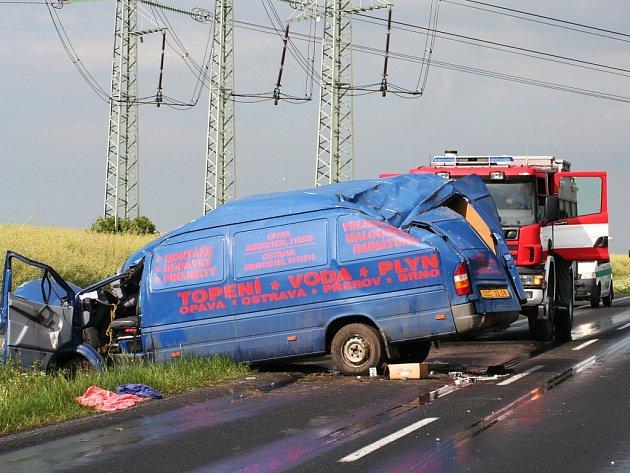 Nehoda u Radíčevsi.