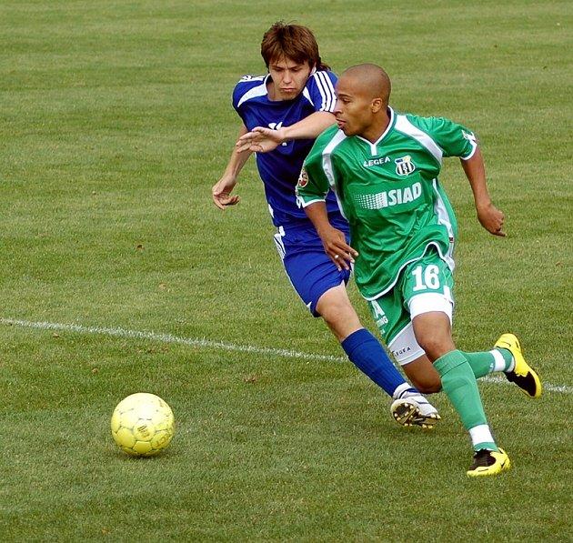 Blšanský fotbalista Wilford přihrál v utkání na jednu branku.