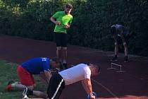 Karel Hasil trénoval s hokejisty Louny