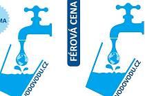 Takhle jsou označeny samolepkami na dveřích restaurace v ČR, které nabízejí hostům možnost dát si k pití vodu natočenou z kohoutku.