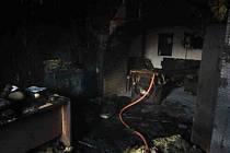 Požár kanceláře v Lubenci.