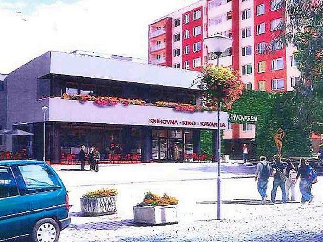 Studie možné budoucí rekonstrukce a přístavby kulturního domu a kina v Podbořanech.