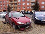 Nehoda v Družstevní ulici v Žatci