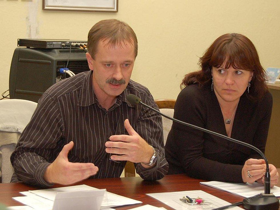 Miloslav Fišer a jeho manželka, tajemnice Jana Fišerová