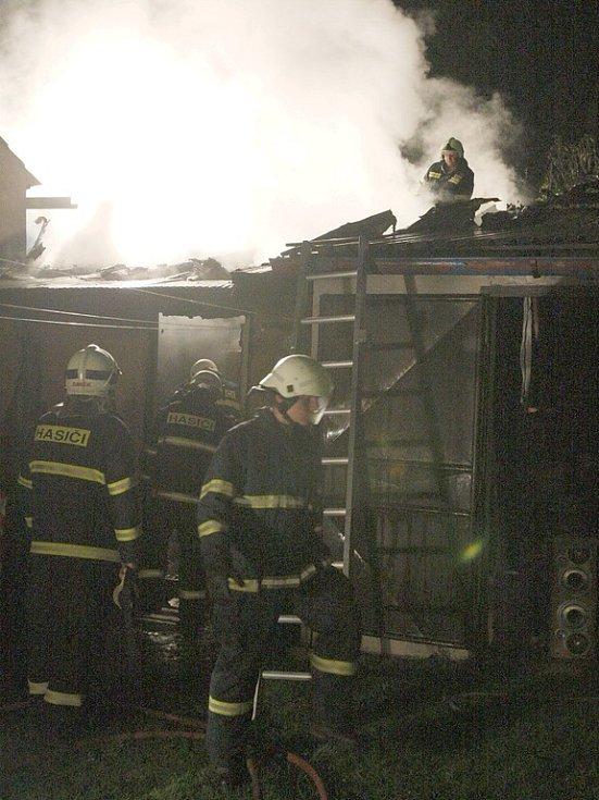 Požár stodoly v Nehasicích