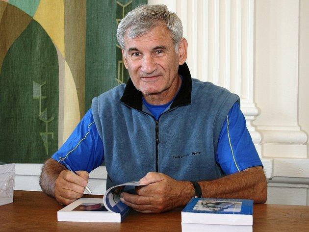 Bývalý olympionik a atlet Ladislav Kříž na setkání v Lounech.