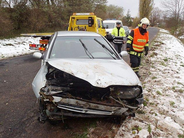 Havárie osobního automobilu u Dubčan