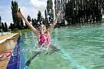 Sobotní odpoledne na koupališti v Podbořanech