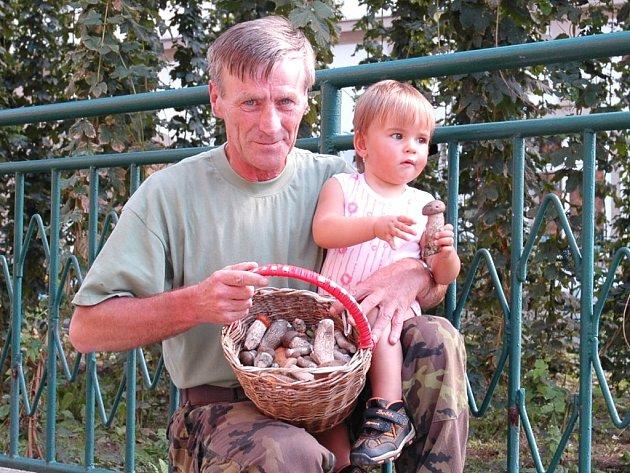 Vášnivý houbař Pavel Ďuračka.