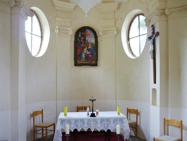 Interiér kaple vNečichách