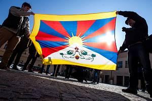 Vlajka pro Tibet. Ilustrační foto