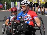 Mezinárodní závod handbiků v Lounech 11. července 2009