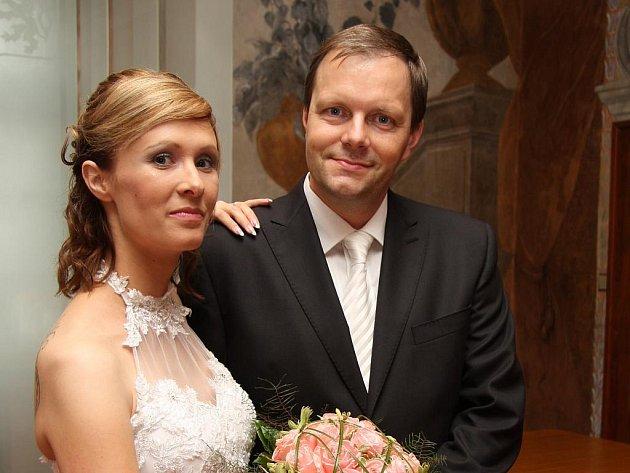 Nevěsta Jana Kliková a ženich Marcel Chládek