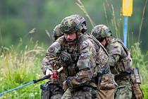 Sedmnáct čtyřčlenných armádních týmu soutěžilo dva dny a jednu noc v extrémně náročném víceboji pěchoty.