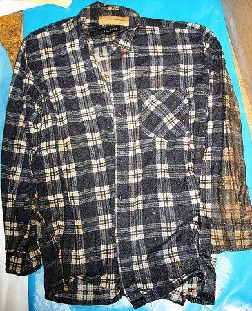 Košile, kterou měl na sobě Josef Šoufek