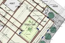 Část dokumentace k rekonstrukci náměstí Poperinge v Žatci