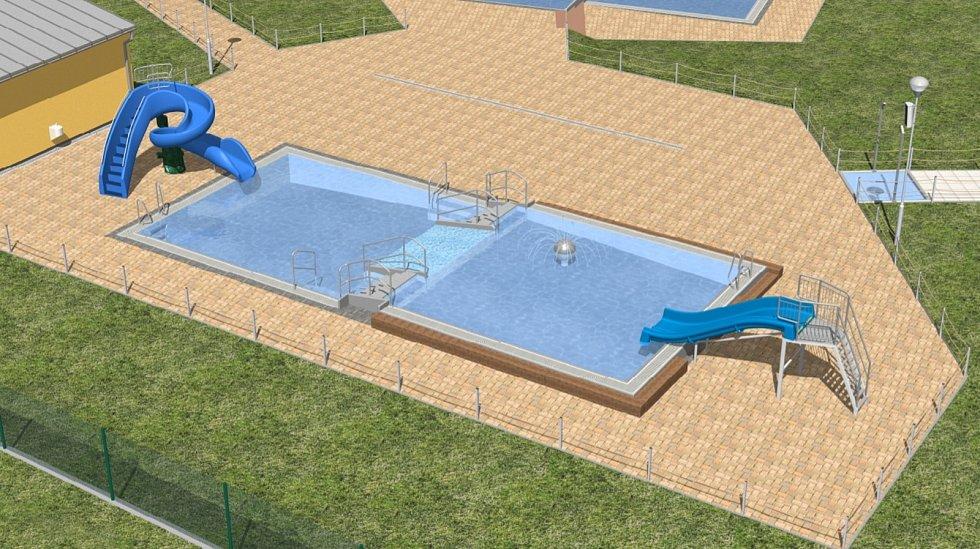 Takto bude bazén na koupališti v Žatci vypadat.