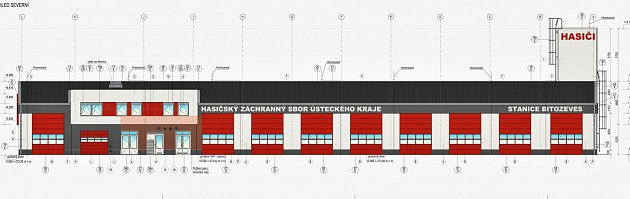 Nákres ukazuje, jak bude vypadat hasičská stanice Bitozeves vzóně Triangle uŽatce.