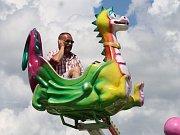 Tradiční slet ultralehkých letadel na letišti Macerka doprovázela spousta atrakcí hlavně pro děti