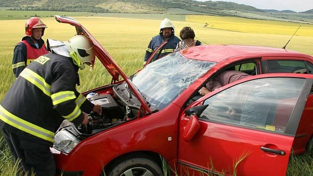 Nehoda u obce Hrádek nedaleko Rané