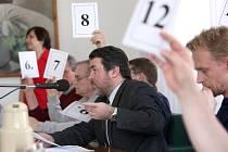 Zasedání žateckých zastupitelů v úterý 31. března 2009