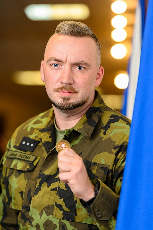 Četař Jakub Kuzma ze 41. mechanizovaného praporu Žatec.