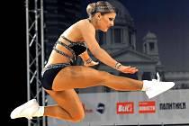 Kristýna Zahradníčková na Mistrovství světa v aerobiku v srbském Bělehradě