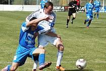 Utkání fotbalistů Blšan (v bílém) proti Souši