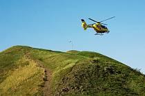 Přílet leteckých záchranářů