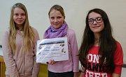 Skautky Tereza Burdová, Kateřina Anglettová a Adéla Hochmannová, vítězky letošního ročníku soutěže V přírodě neriskuj