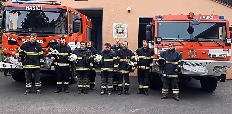 Zapojili se také hasiči z Tuchořic.
