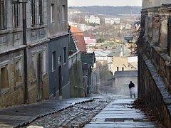 Ulice Nádražní schody v Žatci