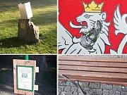 Vandalové opět řádili v právě upravovaných Masarykových sadech v Lounech
