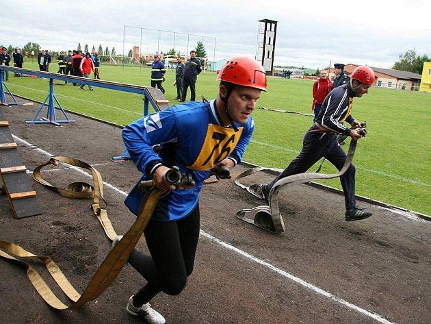 Krajská soutěž v požárním sportu v Podbořanech