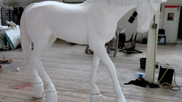Model koně, jehož plastika by měla stát na Nerudově náměstí