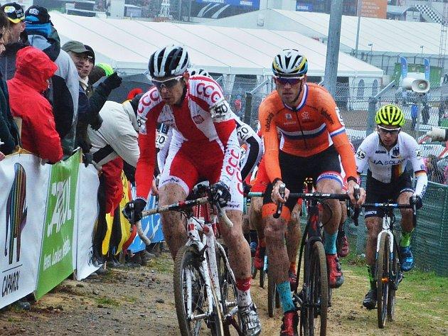 Závod mužů elite na MS v cyklokrosu v Zolderu.