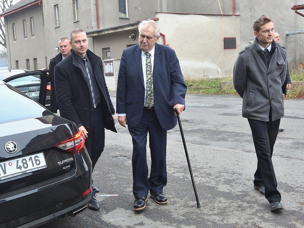 Prezident Miloš Zeman na návštěvě Podbořan