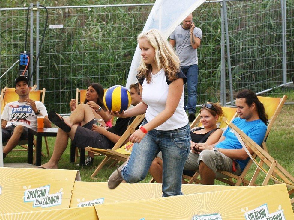Pro návštěvníky bylo nově k dispozici i volejbalové hřiště